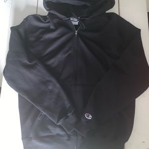 Chamion Zip Hoodie Size M Black